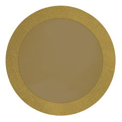 Gold Glitz Round Paper Placemats - 14 Inches