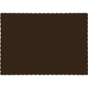 Chocolate Brown Paper Placemats - 600 Count