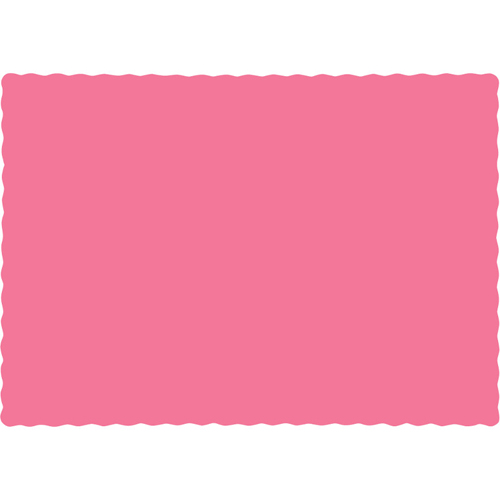 Candy Pink Paper Placemats - 600 Count