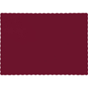 Burgundy Paper Placemats - 600 Count