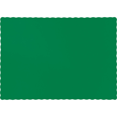 Emerald Green Paper Placemats - 600 Count