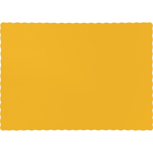 School Bus Yellow Paper Placemats - 600 Count