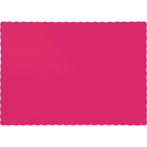 Hot Magenta Paper Placemats - 600 Count