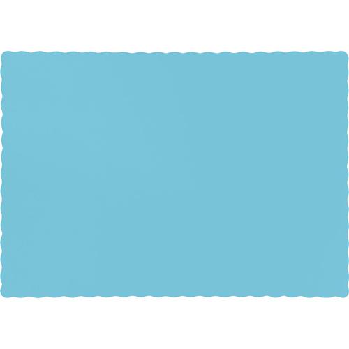 Pastel Blue Paper Placemats - 600 Count