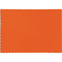 Sunkissed Orange Paper Placemats - 600 Count