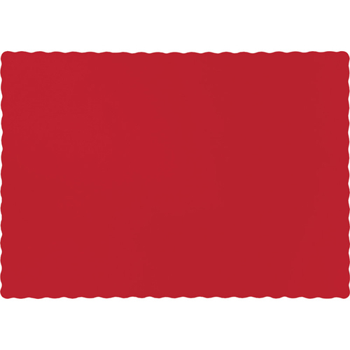 Classic Red Paper Placemats - 600 Count