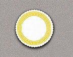 Gold Greek Key Paper Coasters - 3 3/8 Inch