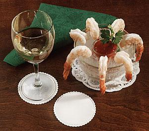 Linen Like Drink Coasters - 3 3/8 Inch