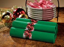 Holiday Bow Paper Napkin Bands