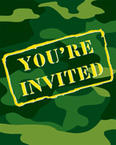 Army Themed Party Invitations