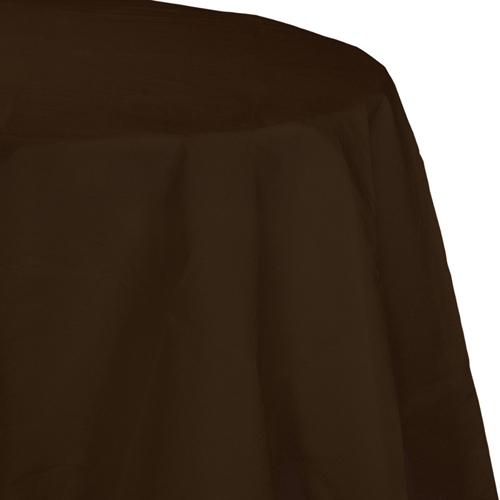 Chocolate Brown Octy-Round Paper Table Covers