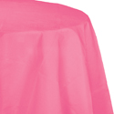 Candy Pink Round Paper Tablecloths