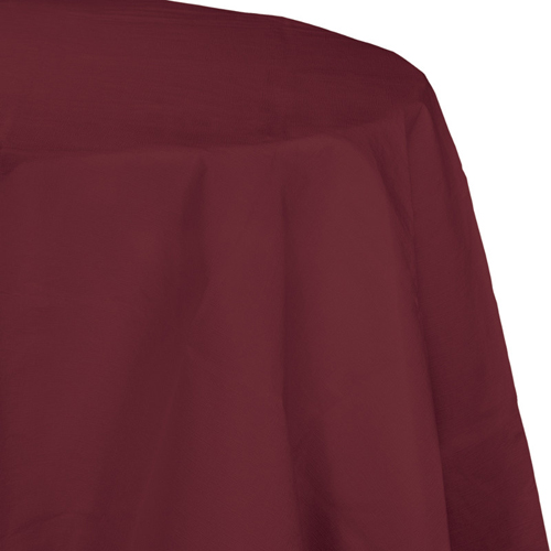 Burgundy Octy-Round Paper Table Covers