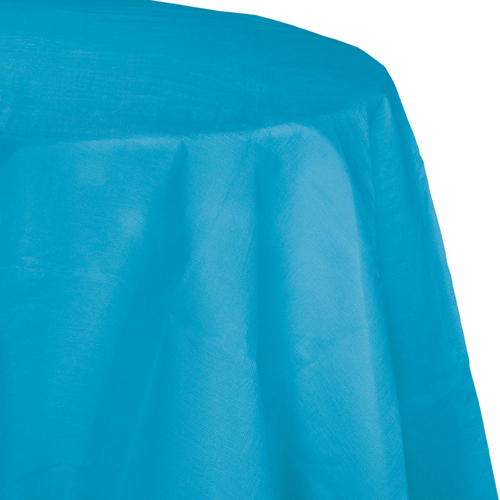 Turquoise Octy-Round Paper Table Covers