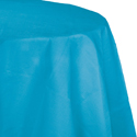 Turquoise Round Paper Tablecloths