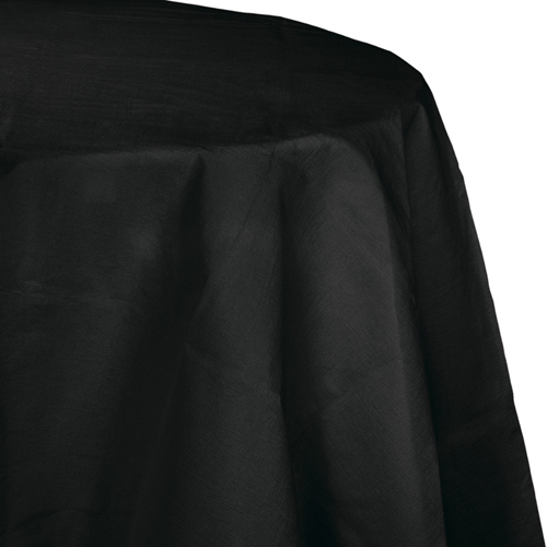 Black Octy-Round Paper Table Covers