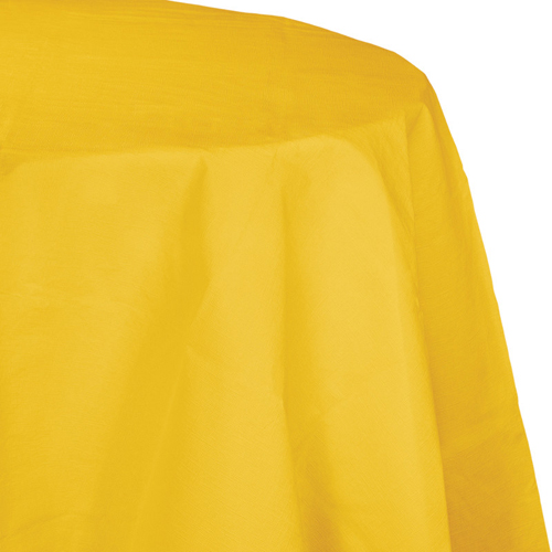 School Bus Yellow Octy-Round Paper Table Covers
