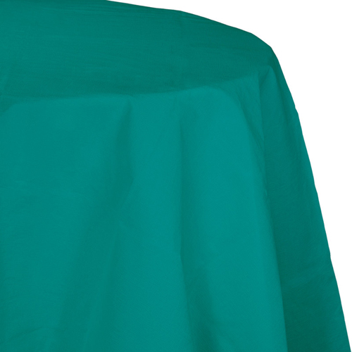 Teal Octy-Round Paper Table Covers