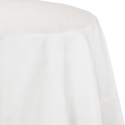 White Octy-Round Paper Table Covers