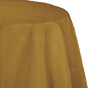 Gold Round Paper Tablecloths - 82 Inch
