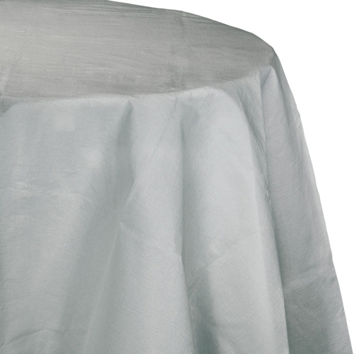 Silver Gray Round Paper Table Covers