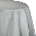 Silver Gray Round Paper Tablecloths