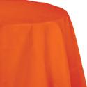 Orange Round Paper Tablecloths