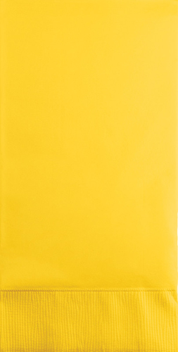 School Bus Yellow Paper Guest Hand Towels