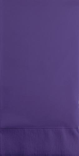 Purple Paper Guest Hand Towels