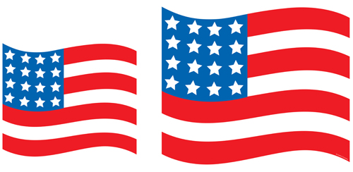 Fourth of July Flag Cutouts