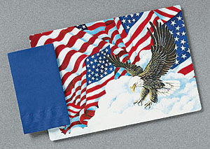Patriotic Flags Paper Placemats