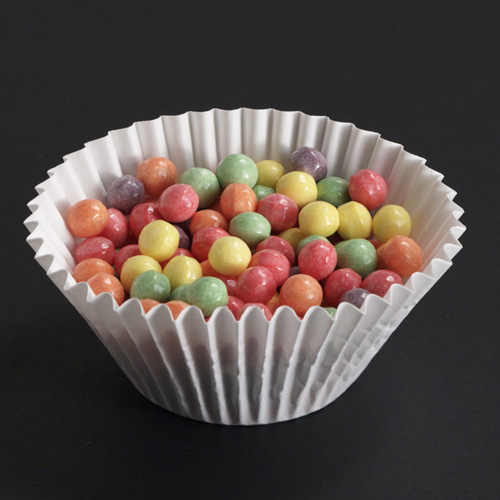 6.5 Inch White Fluted Bake Cups - 5,000 Case Count