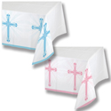 Faith Blessings Plastic Banquet Tablecloths