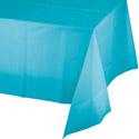 Bermuda Blue Plastic Tablecloths - 54 x 108 Inch