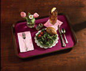 Burgundy Paper Tray Liners