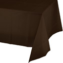 Chocolate Brown Plastic Tablecloths - 54 x 108 Inch