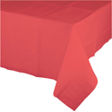 Coral Plastic Tablecloths - 54 x 108 Inch