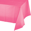 Candy Pink Plastic Tablecloths - 54 x 108 Inch