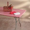 Elastic Plastic Banquet Tablecloths - Fitted 8 Foot