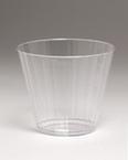 Plástico transparente vasos de cóctel - estriados