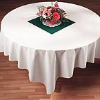 Cubiertas de papel blancas para mesas tipo lino - 82 pulgadas