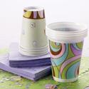 Papel & vasos de plástico