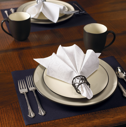 Subtle Paisley FashnPoint Paper Dinner Napkins