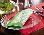 Christmas Swirl FashnPoint Dinner Napkins