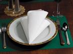 White FashnPoint Paper Dinner Napkins – 1/8 Fold