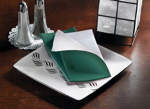 Hunter Green Two Tone FashnPoint Dinner Napkins – Reversible