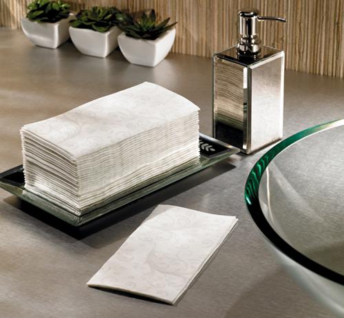 Subtle Paisley FashnPoint Paper Guest Towels