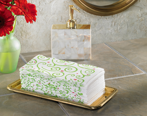 Christmas Swirl FashnPoint Guest Towels