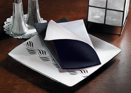 Black Two Tone FashnPoint Paper Napkins – Flat Pack