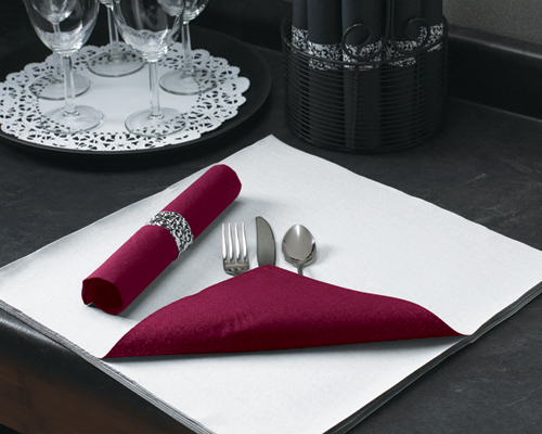 Burgundy Two Tone FashnPoint Paper Napkins – Flat Pack